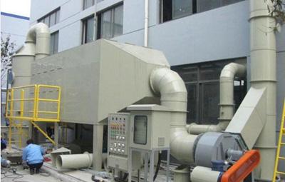 山东东营港某厂在建蜂窝活性炭装置